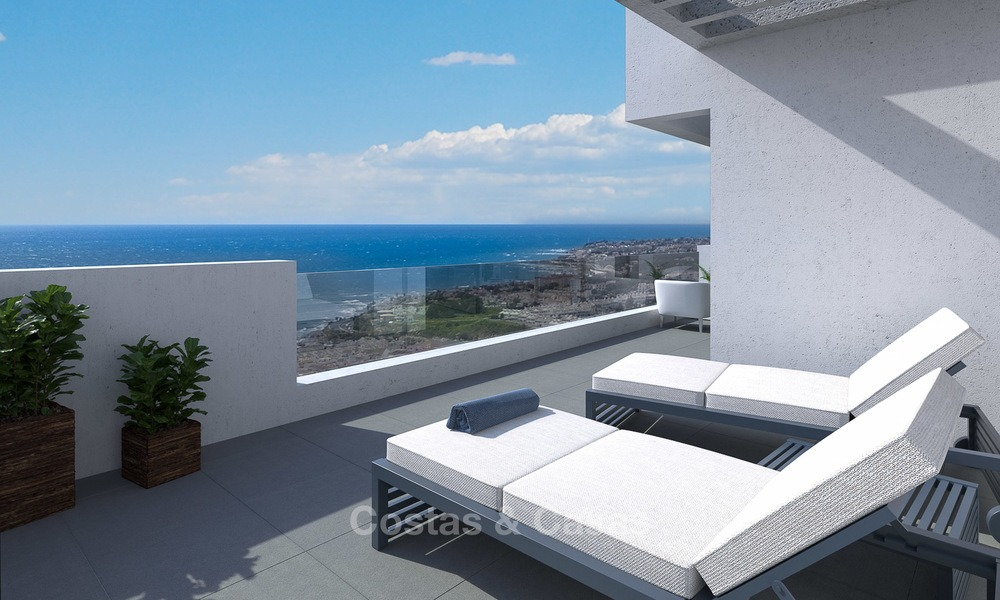 New modern frontline golf apartments for sale, La Cala de Mijas, Costa del Sol 5697