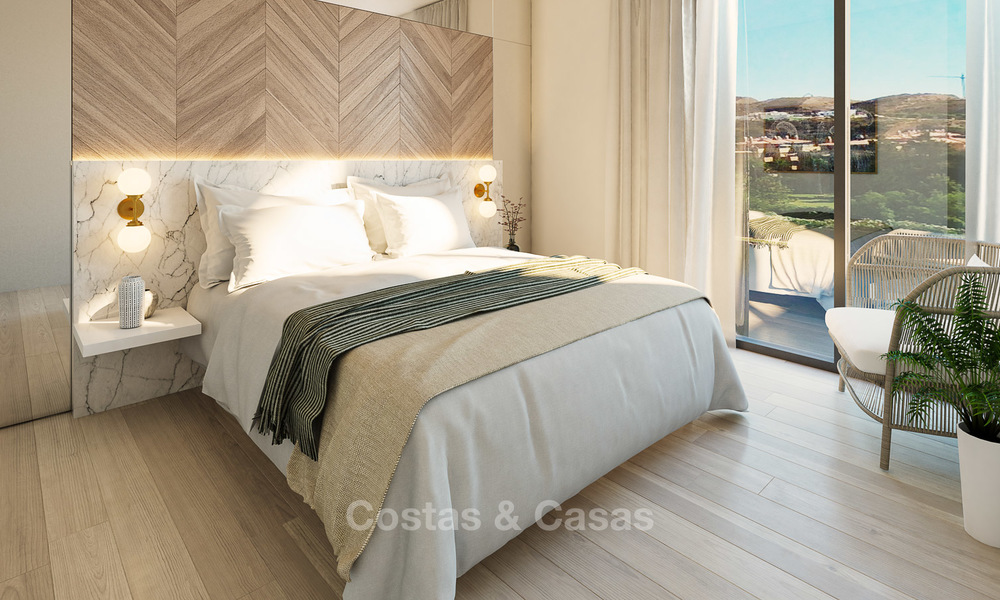 New modern frontline golf apartments for sale, La Cala de Mijas, Costa del Sol 5699