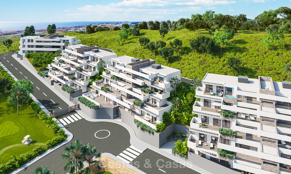 New modern frontline golf apartments for sale, La Cala de Mijas, Costa del Sol 5701