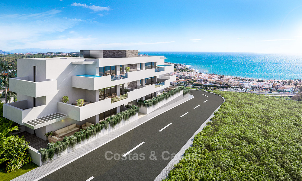 New modern frontline golf apartments for sale, La Cala de Mijas, Costa del Sol 5704