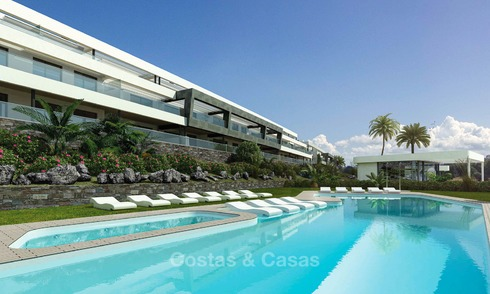 Modern luxury apartments for sale near the beach, with golf and sea views, Casares, Costa del Sol 5777