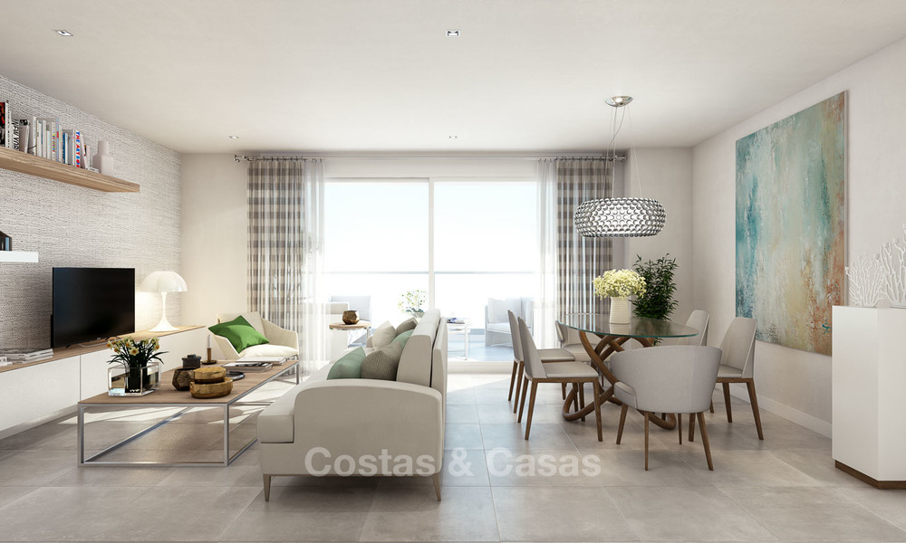 Modern luxury apartments for sale near the beach, with golf and sea views, Casares, Costa del Sol 5783