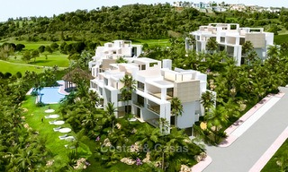 New, modern raised garden apartment with golf, mountain- and sea-views for sale in Benahavis - Marbella 5832