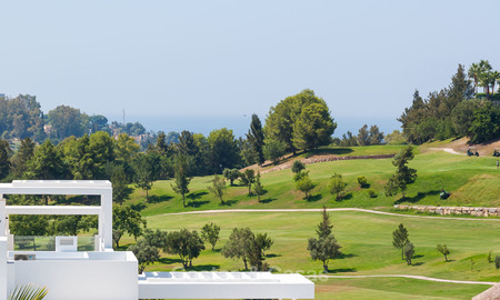 New, modern raised garden apartment with golf, mountain- and sea-views for sale in Benahavis - Marbella 5814