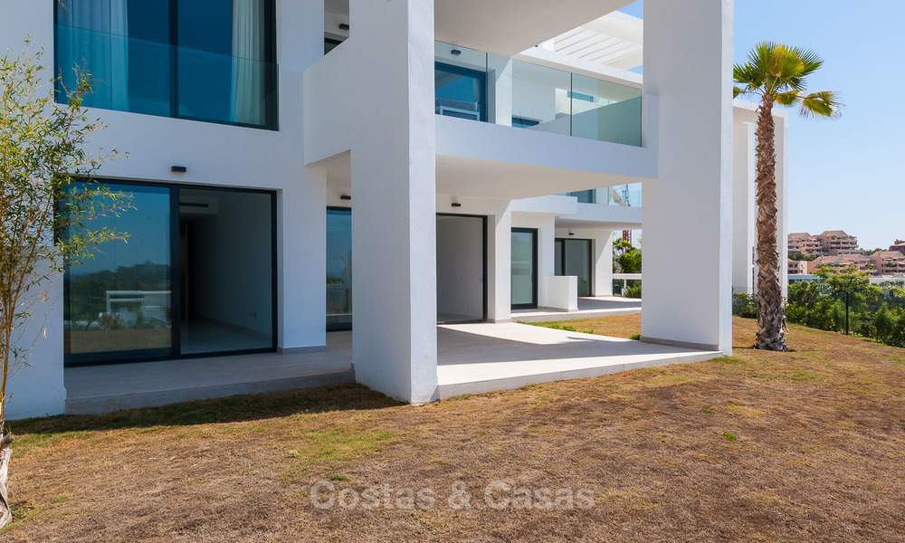 New, modern raised garden apartment with golf, mountain- and sea-views for sale in Benahavis - Marbella 5818