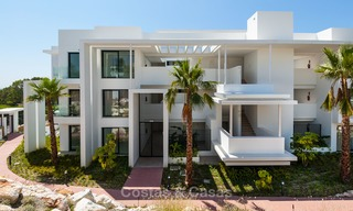 New, modern raised garden apartment with golf, mountain- and sea-views for sale in Benahavis - Marbella 5822
