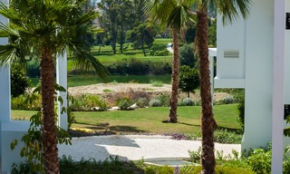 New, modern raised garden apartment with golf, mountain- and sea-views for sale in Benahavis - Marbella 5828