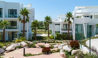 New, modern raised garden apartment with golf, mountain- and sea-views for sale in Benahavis - Marbella 5829
