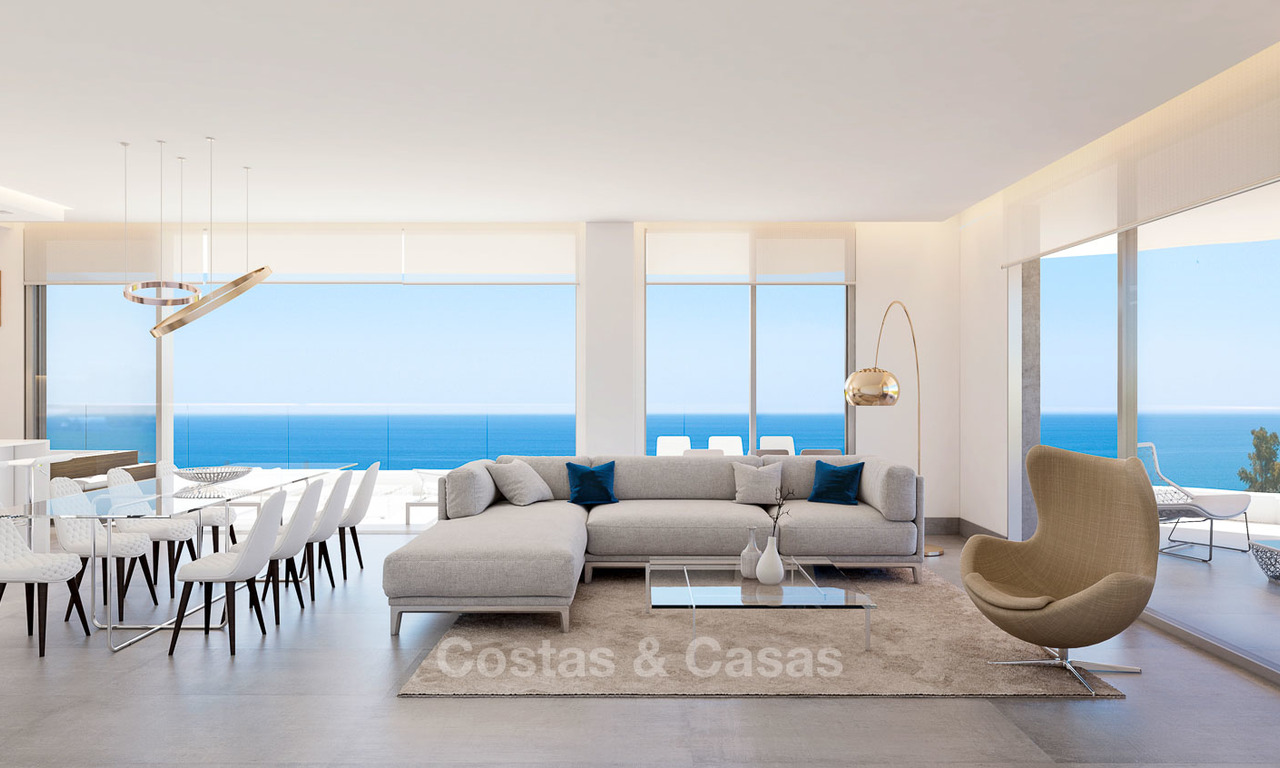Sunny, modern luxury apartments for sale, with unobstructed sea views, Fuengirola, Costa del Sol 5836