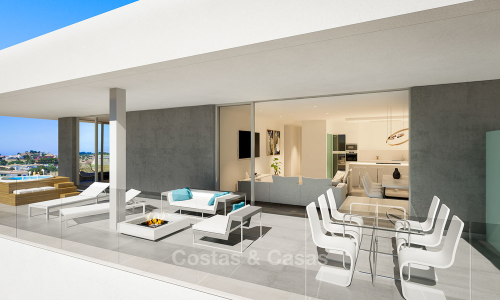 Sunny, modern luxury apartments for sale, with unobstructed sea views, Fuengirola, Costa del Sol 5839