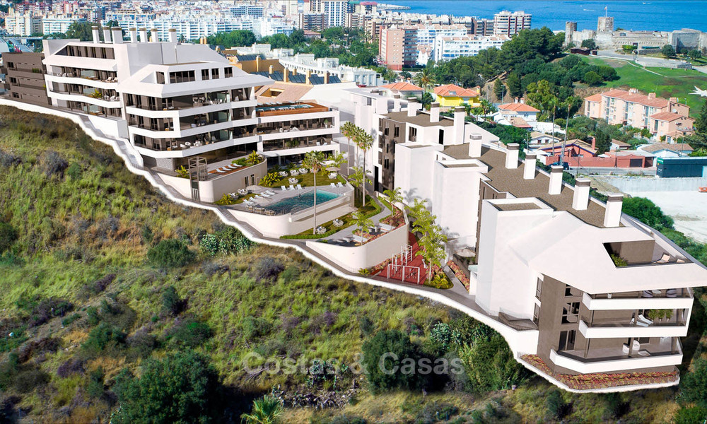 Sunny, modern luxury apartments for sale, with unobstructed sea views, Fuengirola, Costa del Sol 5849