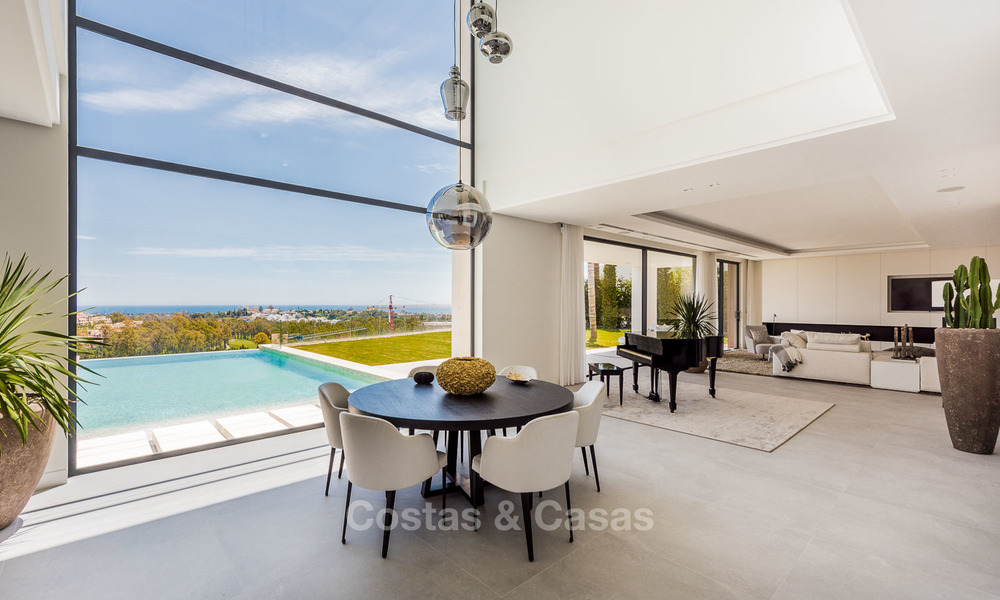Turnkey exclusive high-end designer villa for sale, with panoramic sea, golf and mountain views, Benahavis - Marbella 5884