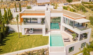 Turnkey exclusive high-end designer villa for sale, with panoramic sea, golf and mountain views, Benahavis - Marbella 5893