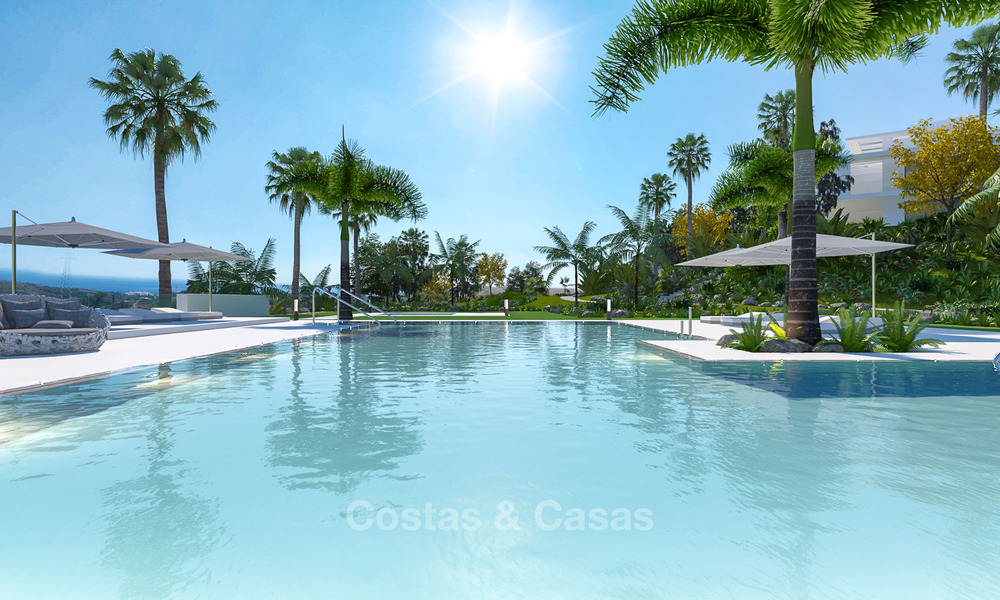 Luxury modern apartments for sale, in an exclusive complex with private lagoon, Casares, Costa del Sol 5917