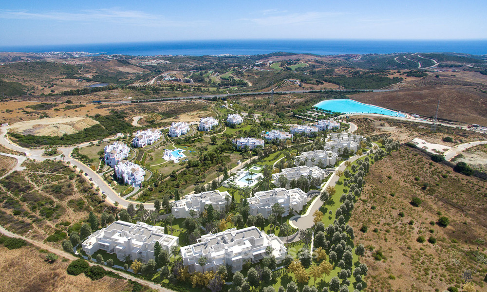 Luxury modern apartments for sale, in an exclusive complex with private lagoon, Casares, Costa del Sol 5919