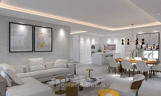 Luxury modern apartments for sale, in an exclusive complex with private lagoon, Casares, Costa del Sol 5923
