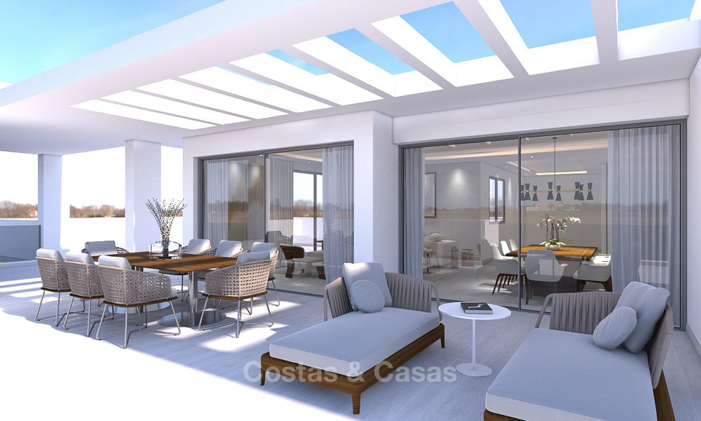 Luxury modern apartments for sale, in an exclusive complex with private lagoon, Casares, Costa del Sol 5924