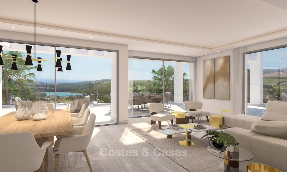 Luxury modern apartments for sale, in an exclusive complex with private lagoon, Casares, Costa del Sol 5929