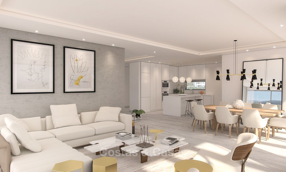 Luxury modern apartments for sale, in an exclusive complex with private lagoon, Casares, Costa del Sol 5930