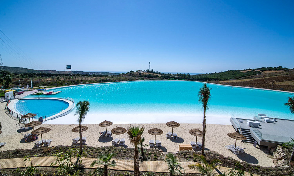 Luxury modern apartments for sale, in an exclusive complex with private lagoon, Casares, Costa del Sol 5937