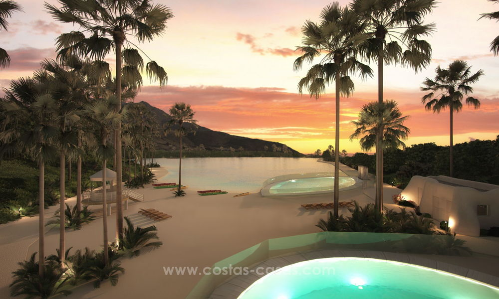Luxury modern apartments for sale, in an exclusive complex with private lagoon, Casares, Costa del Sol 20048