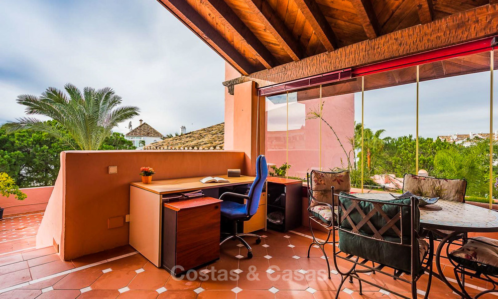 Spacious beach side penthouse apartment for sale, in a luxurious complex, Elviria, Marbella 6006