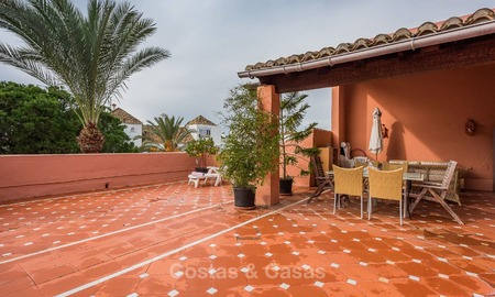 Spacious beach side penthouse apartment for sale, in a luxurious complex, Elviria, Marbella 6007