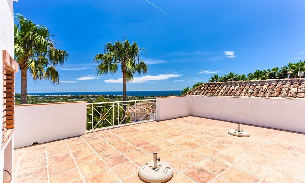 Andalusian style designer villa for sale with magnificent sea views, near golf and beach, Marbella 6066