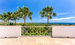 Andalusian style designer villa for sale with magnificent sea views, near golf and beach, Marbella 6067