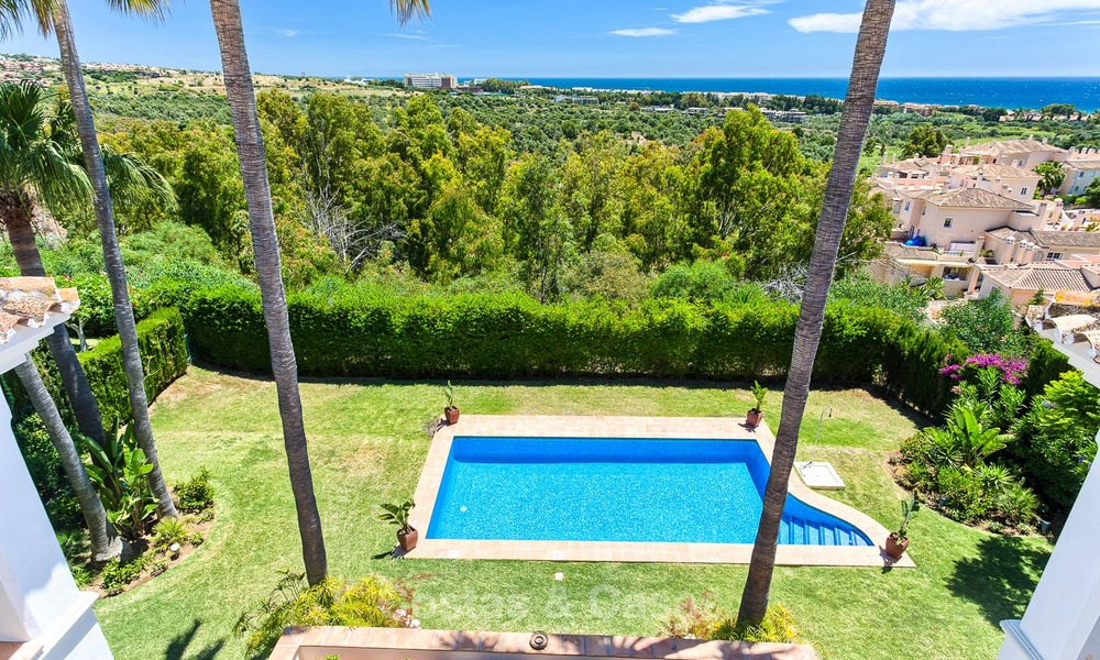 Andalusian style designer villa for sale with magnificent sea views, near golf and beach, Marbella 6068