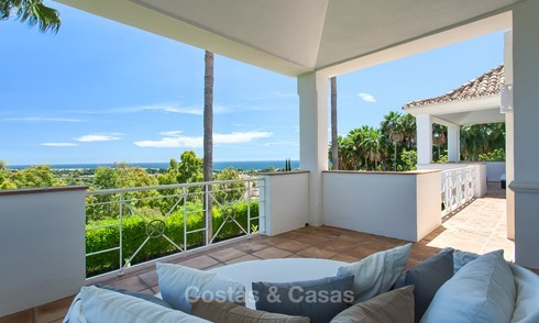 Andalusian style designer villa for sale with magnificent sea views, near golf and beach, Marbella 6070