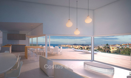 Delightful modern villas for sale in a privileged location with panoramic sea and bay views, Benalmadena, Costa del Sol 6123