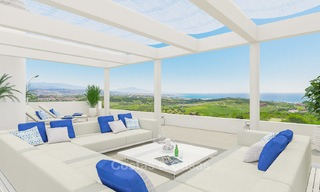 New avant-garde townhouses for sale, breath taking sea views, Casares, Costa del Sol 6113