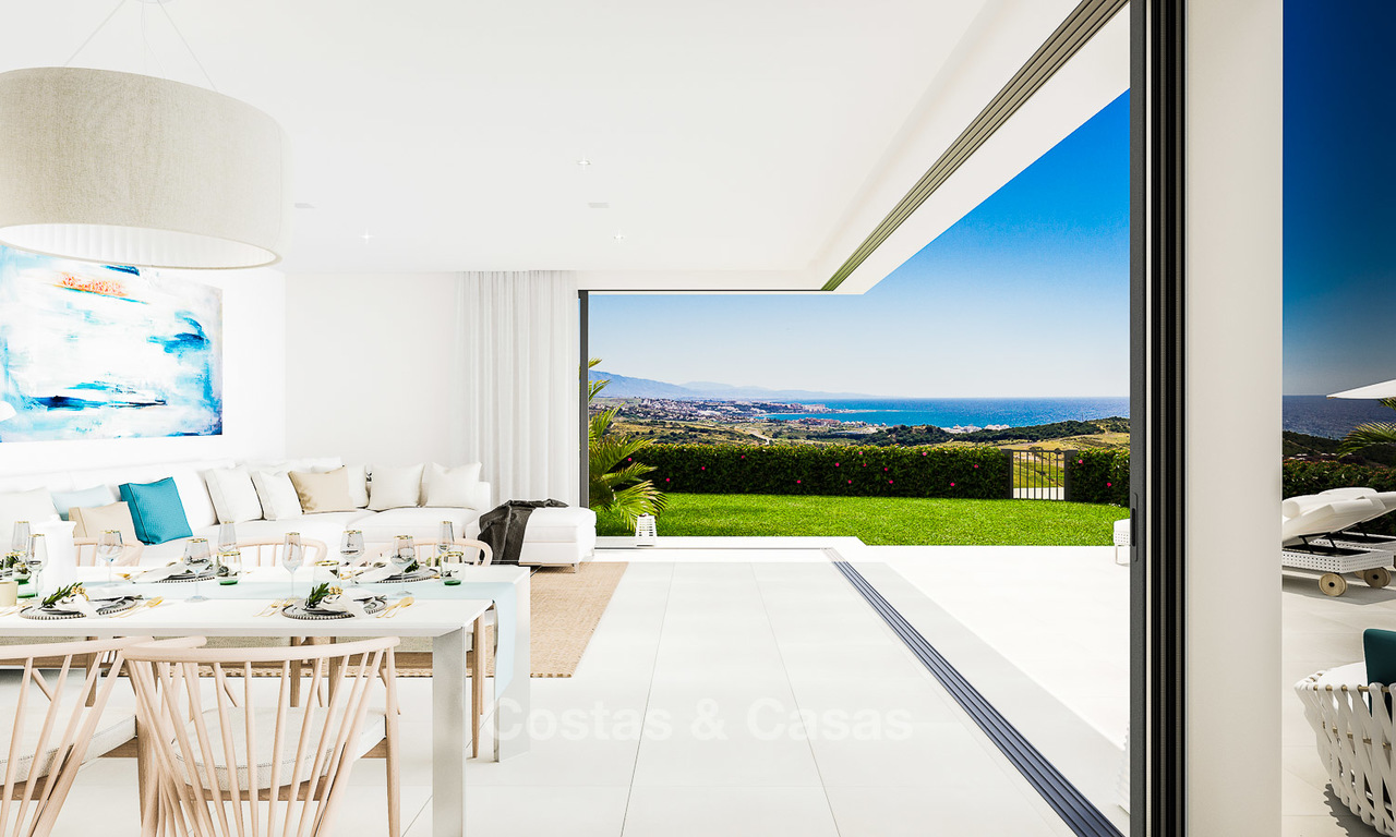 New avant-garde townhouses for sale, breath taking sea views, Casares, Costa del Sol 6099