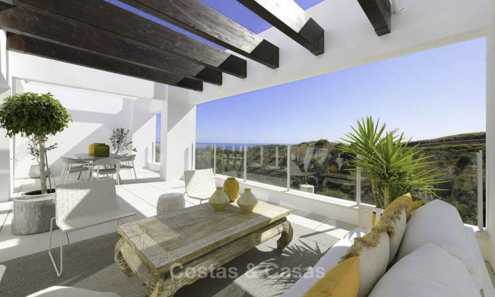 Attractive new apartments with stunning sea views for sale, Marbella. Completed! 19169