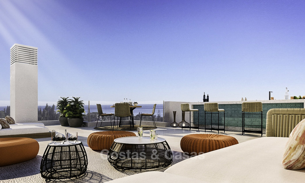 Attractive new apartments with stunning sea views for sale, Marbella. Completed! 19188