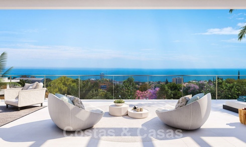 New passive modern apartments in a 5-star boutique resort for sale in Marbella with stunning sea views 29180