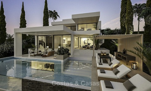 Innovative, eco-friendly luxury villa in contemporary architecture for sale, frontline golf in Nueva Andalucia, Marbella 14059