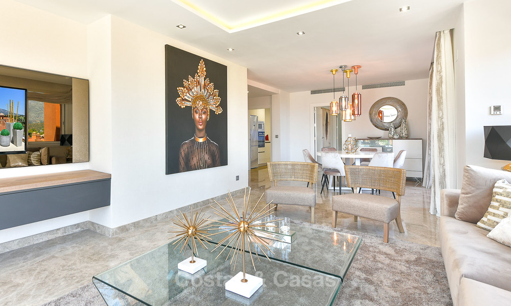 Charming new Andalusian-style apartments for sale, Golf Valley, Nueva Andalucia, Marbella 6221