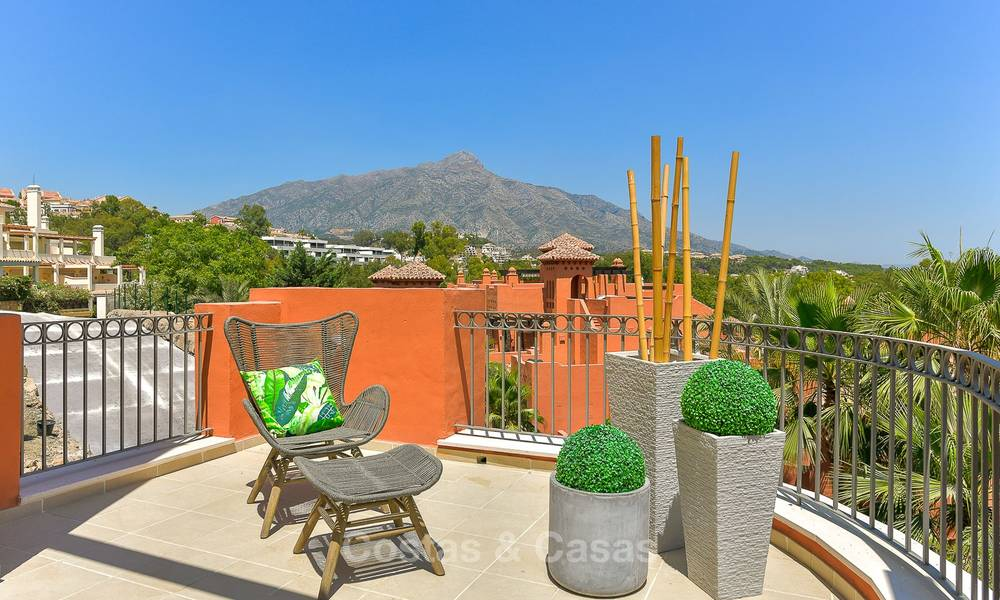 Charming new Andalusian-style apartments for sale, Golf Valley, Nueva Andalucia, Marbella 6225