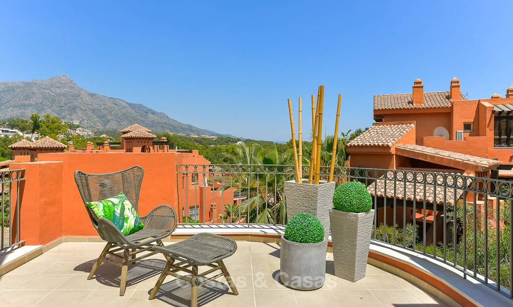 Charming new Andalusian-style apartments for sale, Golf Valley, Nueva Andalucia, Marbella 6226