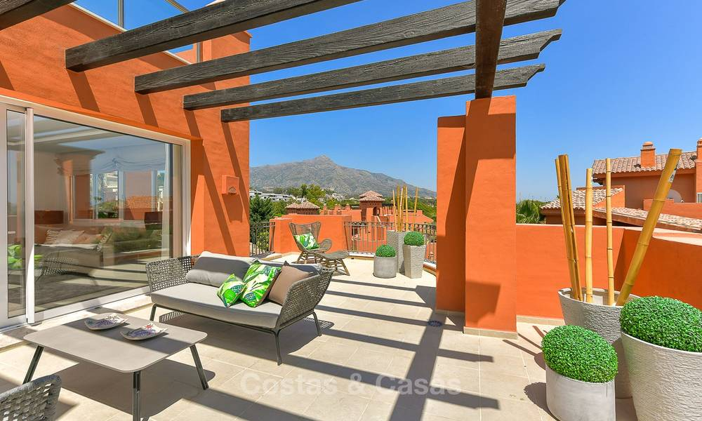 Charming new Andalusian-style apartments for sale, Golf Valley, Nueva Andalucia, Marbella 6227