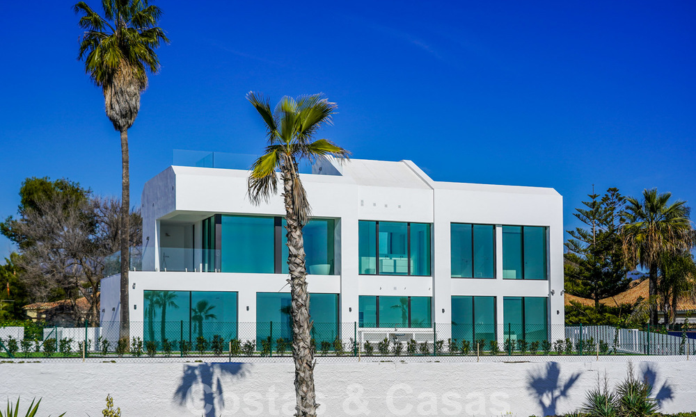 Unique ultra-modern beach front designer villa for sale, New Golden Mile, Marbella - Estepona 24927