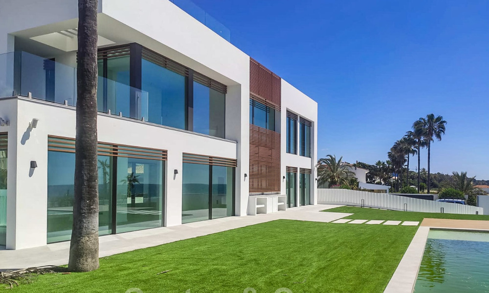 Unique ultra-modern beach front designer villa for sale, New Golden Mile, Marbella - Estepona 24941