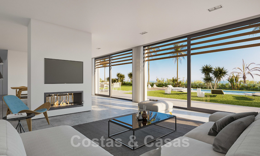 Unique ultra-modern beach front designer villa for sale, New Golden Mile, Marbella - Estepona 24955