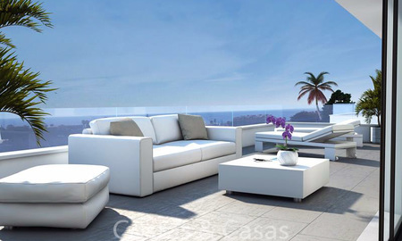 Attractive new modern luxury villas for sale, with sea and golf views, Manilva, Costa del Sol 6294