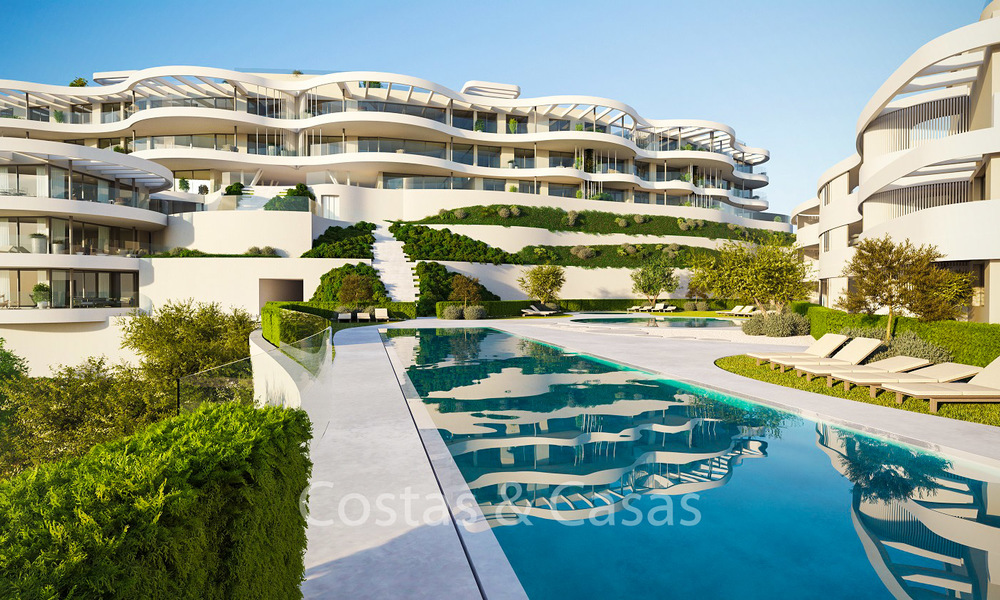 New, exquisite, contemporary luxury apartments for sale, with extraordinary sea, golf and mountain views, Benahavis - Marbella 6315