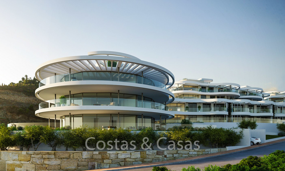 New, exquisite, contemporary luxury apartments for sale, with extraordinary sea, golf and mountain views, Benahavis - Marbella 6319