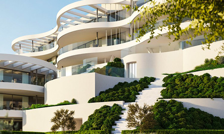 New, exquisite, contemporary luxury apartments for sale, with extraordinary sea, golf and mountain views, Benahavis - Marbella 6320