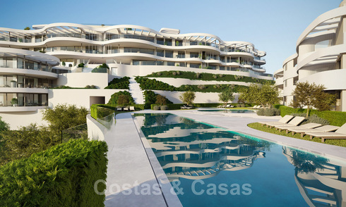 New, exquisite, contemporary luxury apartments for sale, with extraordinary sea, golf and mountain views, Benahavis - Marbella 31064